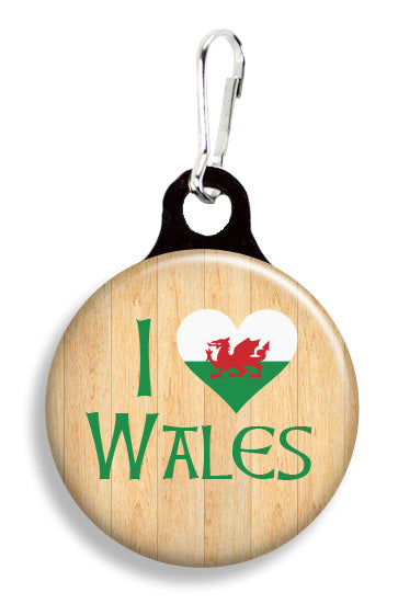 I Love Wales - Fetch Life Pet Outfitters Dog & Cat Collar Clips