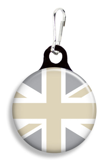 Greige Union Jack Flag - Fetch Life Pet Outfitters Dog & Cat Collar Clips