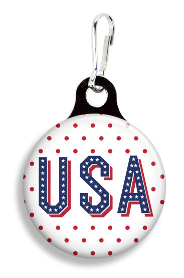 USA Dots - Fetch Life Pet Outfitters Dog & Cat Collar Clips
