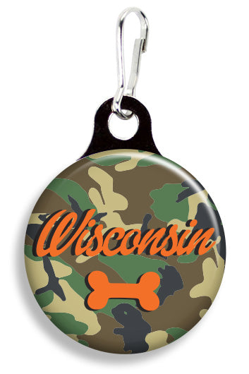 Wisconsin Camoflauge - Fetch Life Pet Outfitters Dog & Cat Collar Clips