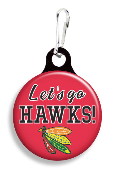 Chicago Let's Go Hawks - Fetch Life Pet Outfitters Dog & Cat Collar Clips