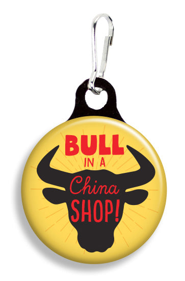 Bull in a China Shop - Fetch Life Pet Outfitters Dog & Cat Collar Clips