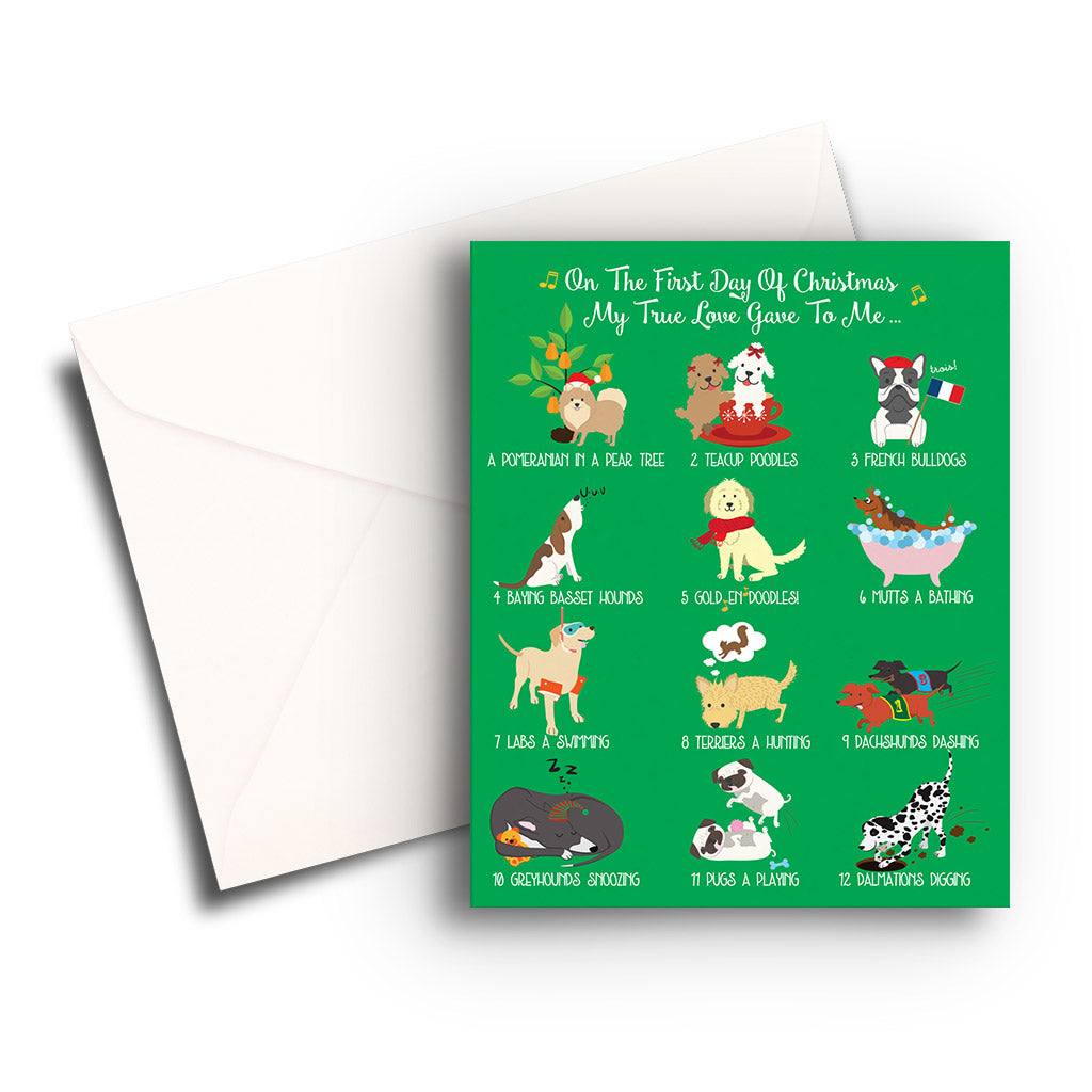 12 Dogs of Christmas Individual Christmas Card - Fetch Life Pet Outfitters Dog & Cat Collar Clips