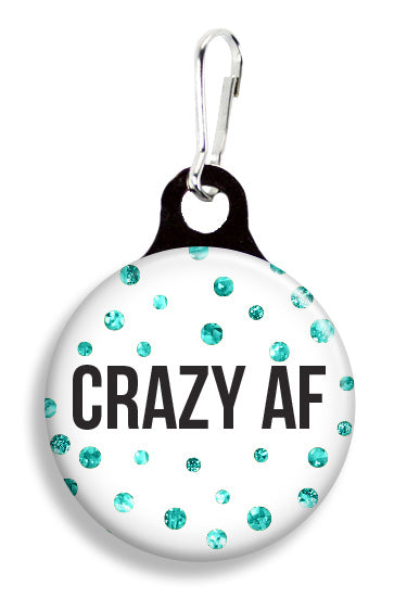 Glitter Crazy AF - Fetch Life Pet Outfitters Dog & Cat Collar Clips