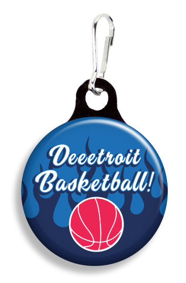 Deeetroit Basketball - Fetch Life Pet Outfitters Dog & Cat Collar Clips