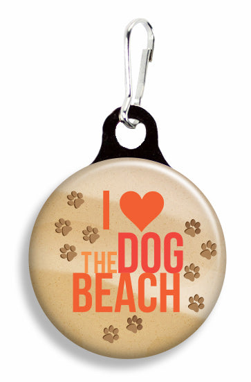 I Love the Dog Beach - Fetch Life Pet Outfitters Dog & Cat Collar Clips