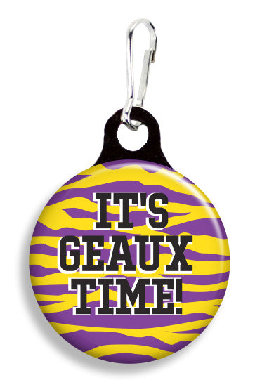 LSU It's Geaux Time - Fetch Life Pet Outfitters Dog & Cat Collar Clips