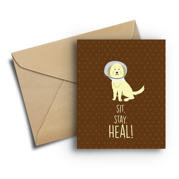 Sit Stay Heal Card