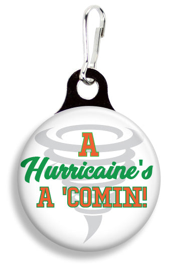 "Miami Hurricane's A Comin"" - Fetch Life Pet Outfitters Dog & Cat Collar Clips"