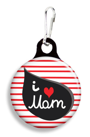 I Love Mom - Fetch Life Pet Outfitters Dog & Cat Collar Clips