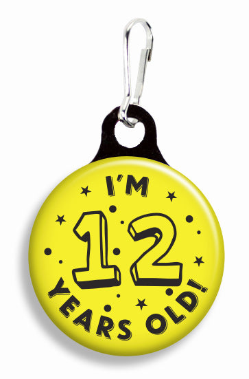 Happy 12th Birthday - Fetch Life Pet Outfitters Dog & Cat Collar Clips