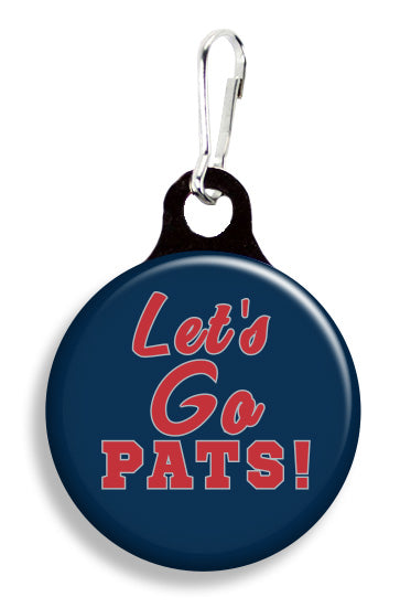 NE Let's Go Pats - Fetch Life Pet Outfitters Dog & Cat Collar Clips