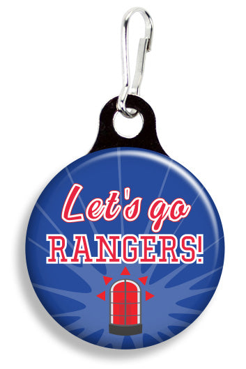 NY Let's Go Rangers - Fetch Life Pet Outfitters Dog & Cat Collar Clips