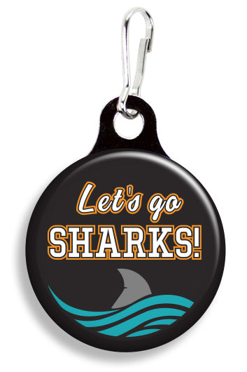 San Jose Sharks Fin - Fetch Life Pet Outfitters Dog & Cat Collar Clips