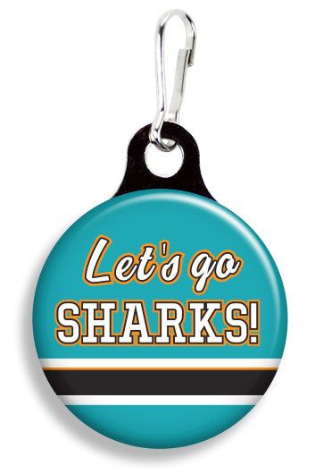 San Jose Let's Go Sharks - Fetch Life Pet Outfitters Dog & Cat Collar Clips