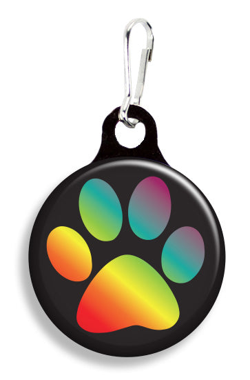 Rainbow Paw Print - Fetch Life Pet Outfitters Dog & Cat Collar Clips