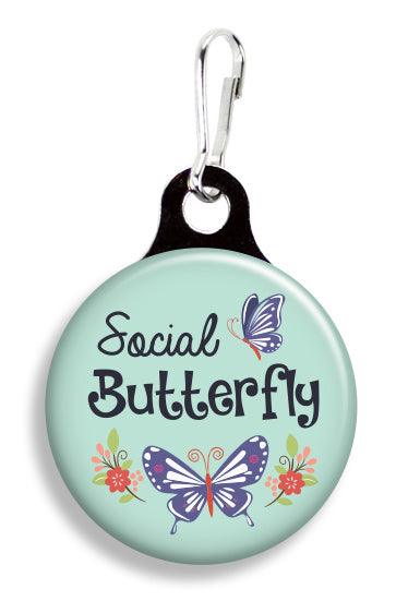 Social Butterfly - Fetch Life Pet Outfitters Dog & Cat Collar Clips