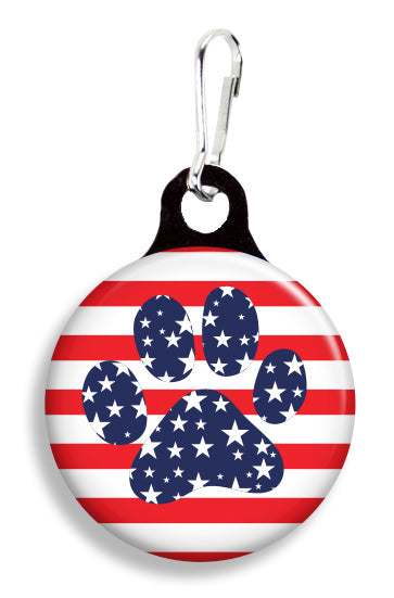 Stars and Stripes Paw - Fetch Life Pet Outfitters Dog & Cat Collar Clips
