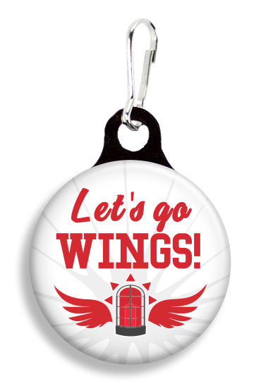 Detroit Wings Let's Go - Fetch Life Pet Outfitters Dog & Cat Collar Clips