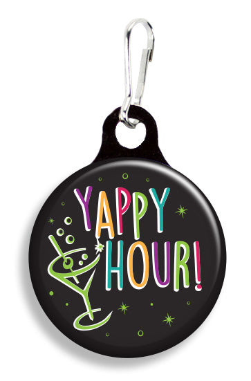 Neon Yappy Hour - Fetch Life Pet Outfitters Dog & Cat Collar Clips