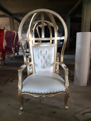 HOODED CANOPY BIRDCAGE THRONE