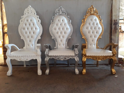 ACCENT ARM THRONE CHAIRS