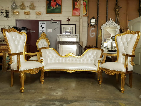 Monaco love seat and two thrones matching 3 piece set on sale!!