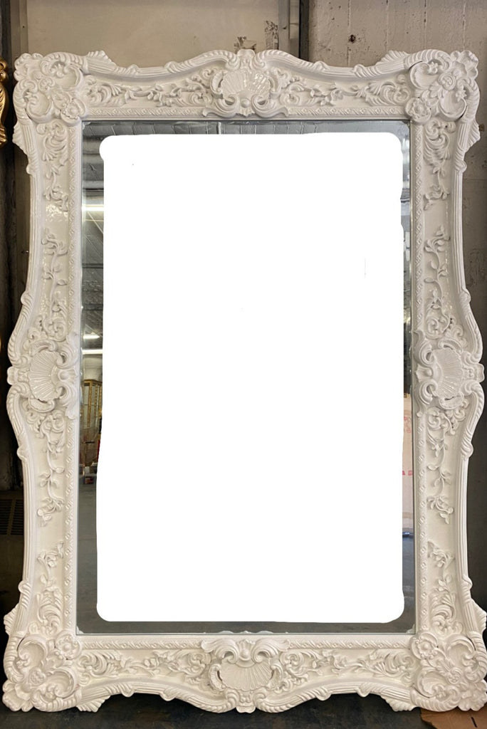 """Bellisimo"" Royal Floor Mirror - White"