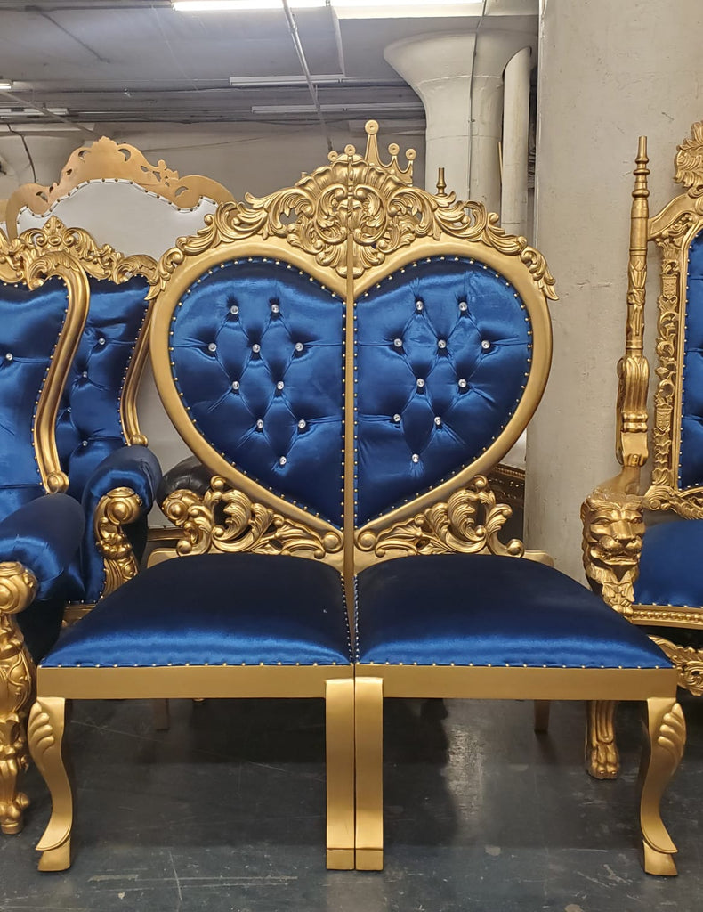 """Sweetheart"" Party Chair - Royal Blue / Gold"