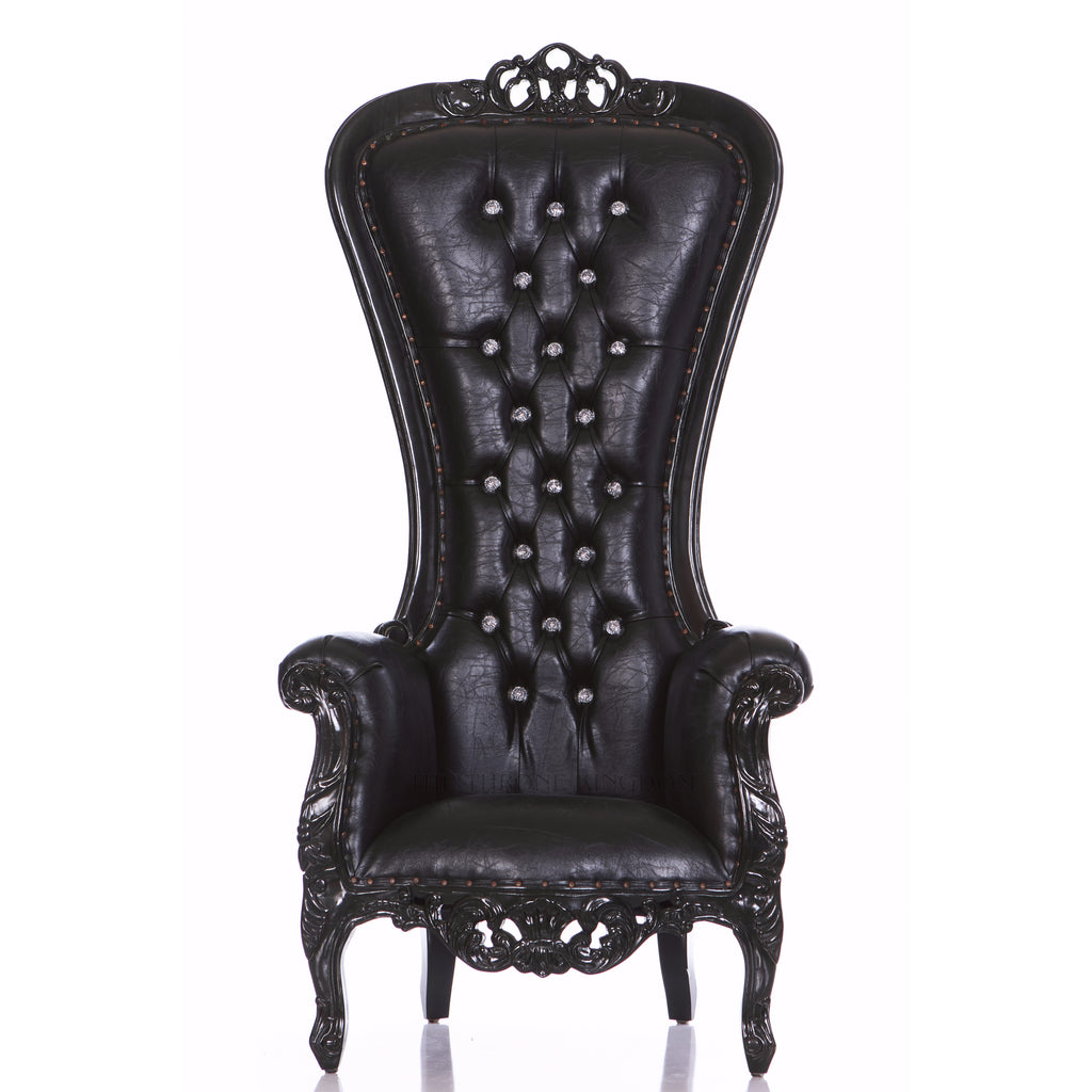 """Diana"" Queen Throne Chair - Black / Black"