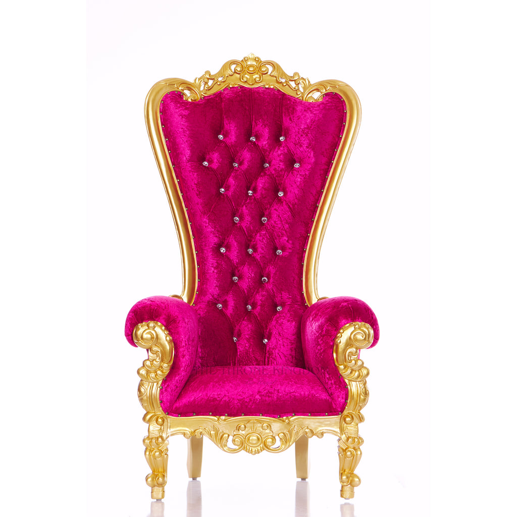 """Queen Tiffany"" Throne Chair - Fuchsia / Gold"