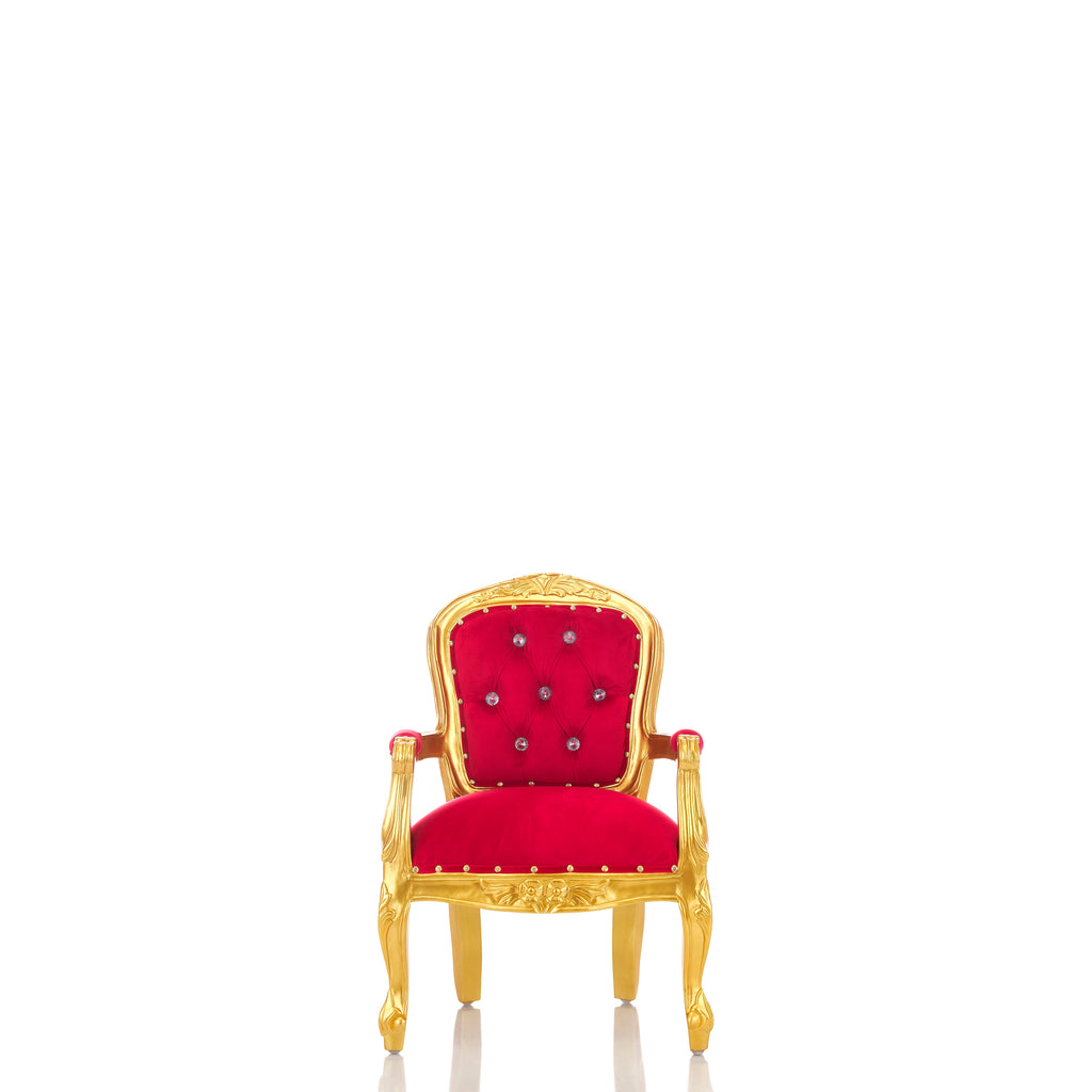 """Angelic"" 31"" Children's Throne Chair - Red / Gold"