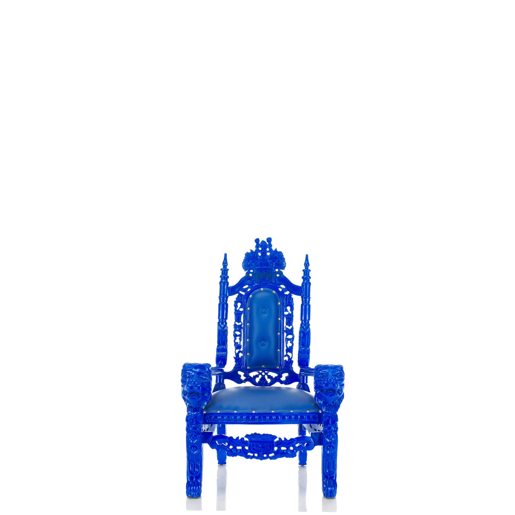 """Mini King David"" Lion Throne Chair - Blue / Blue"