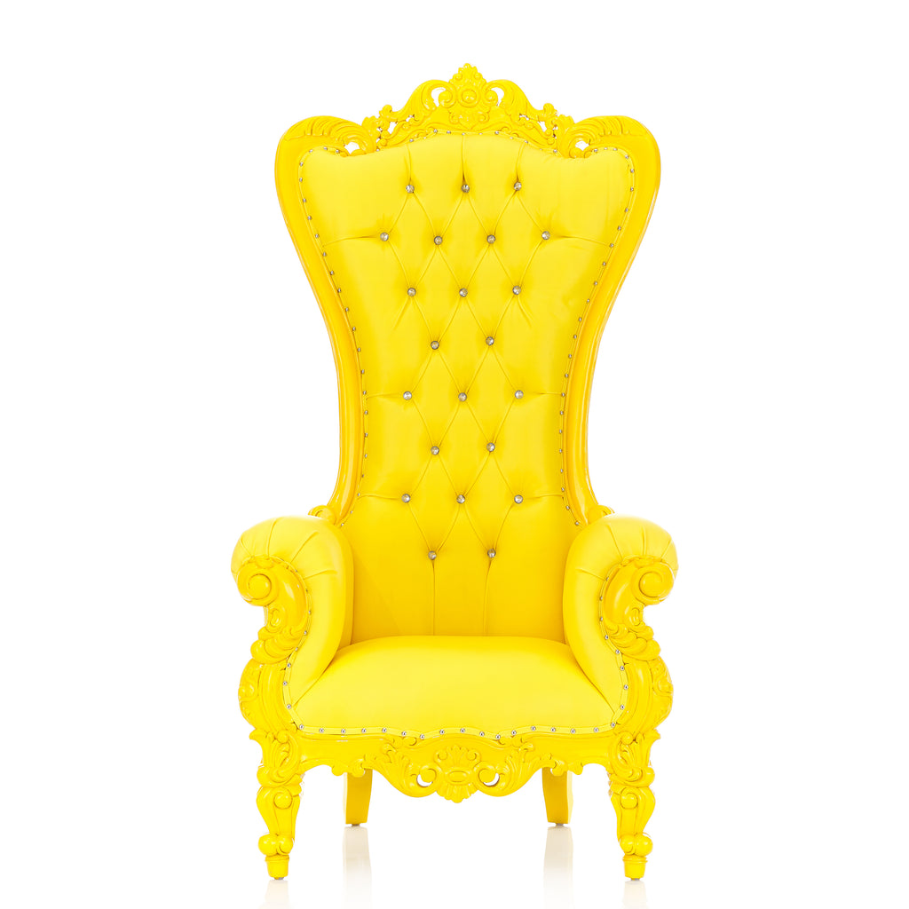 """Queen Tiffany"" Throne Chair - Yellow / Yellow"