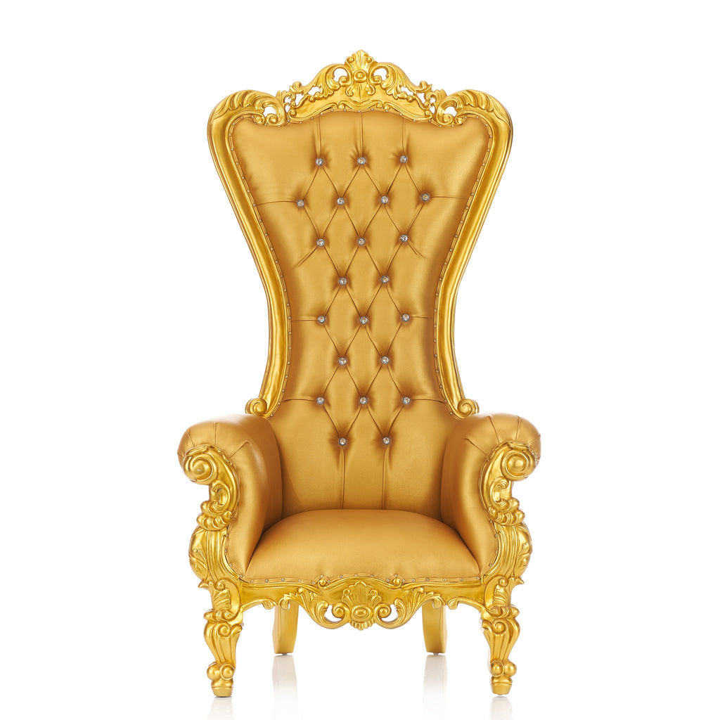 """Queen Tiffany"" Throne Chair - Gold / Gold"
