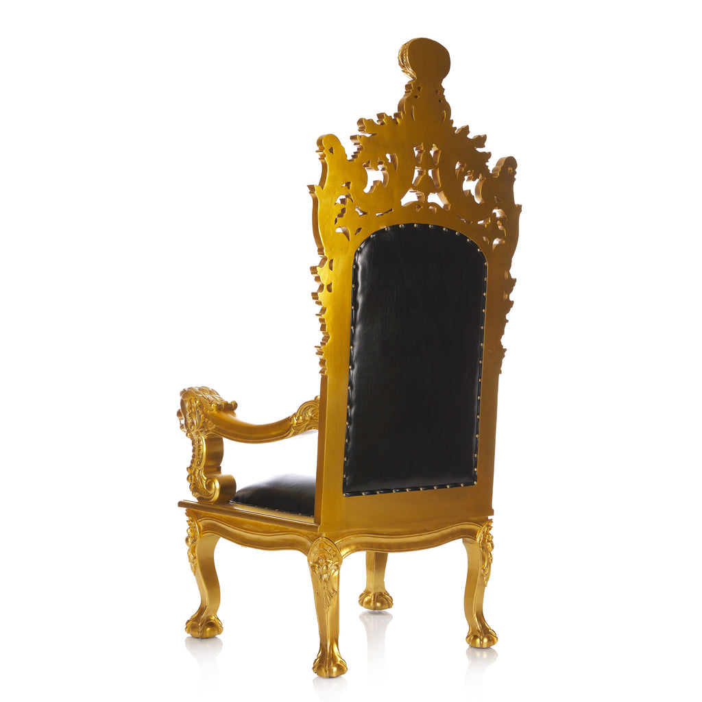 """Helena"" Queen Royal Throne Chair  - Black / Gold"