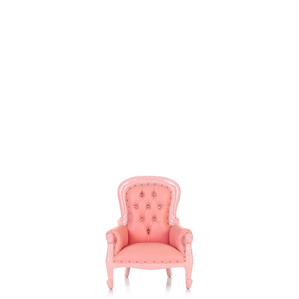 """Cinderella 26"" Mini Princess Throne Chair - Light Pink / Light Pink"