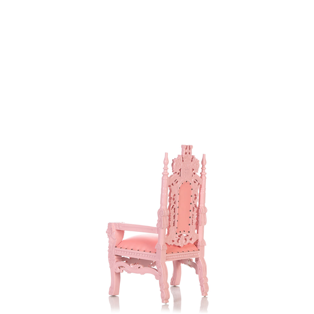 """Mini King David"" Lion Throne Chair - Baby Pink / Baby Pink"