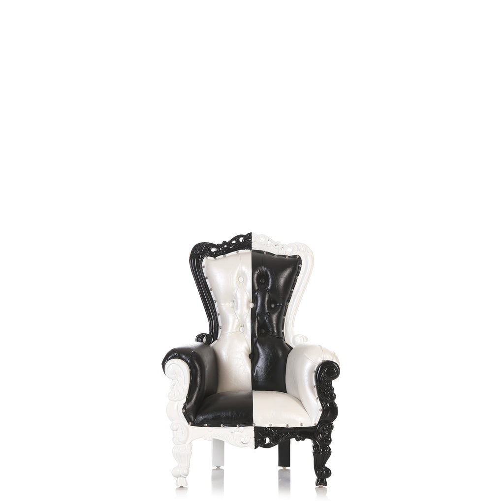 """Mini Tiffany"" Kids Throne Chair - Black / White"