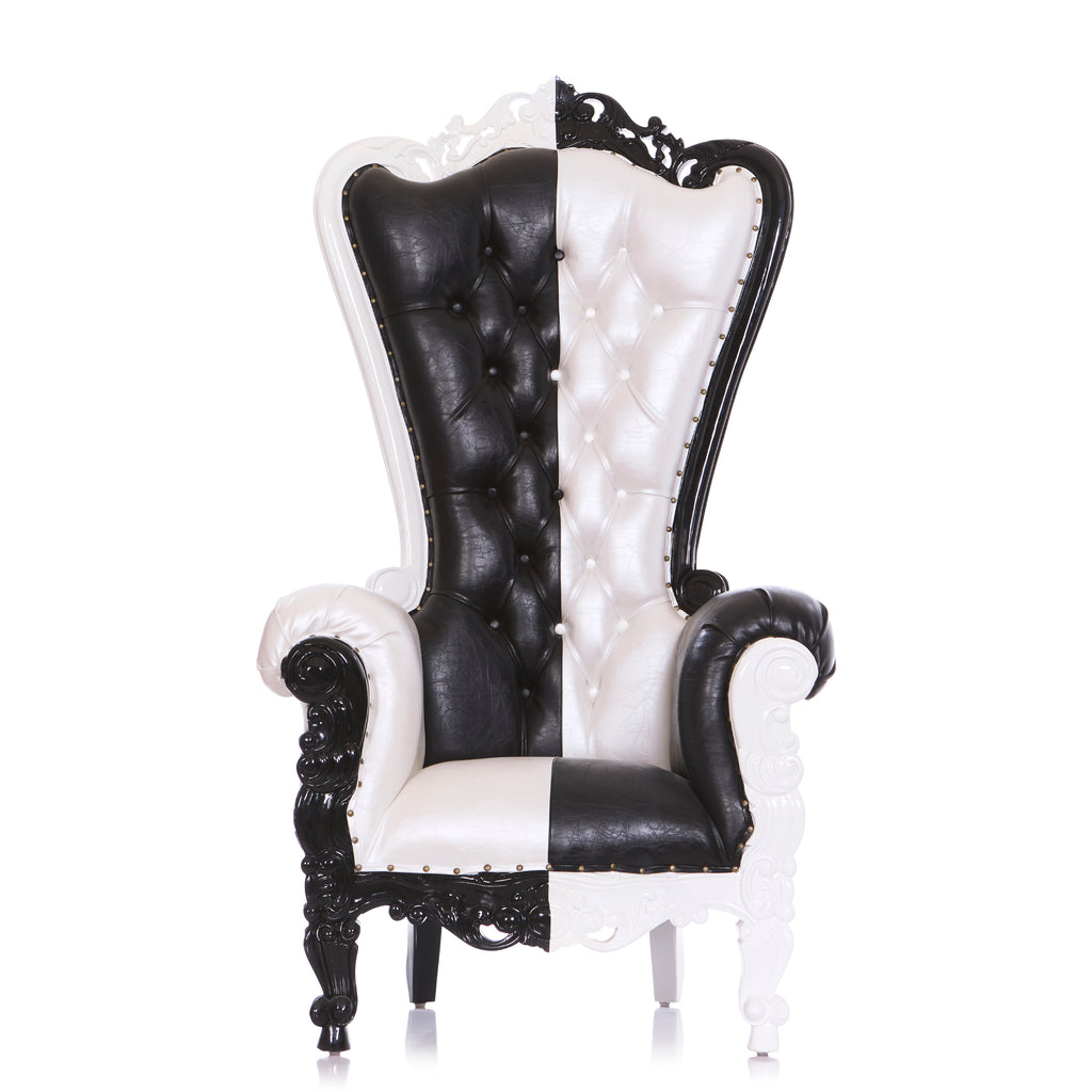 """Queen Tiffany"" Throne Chair - Black / White"