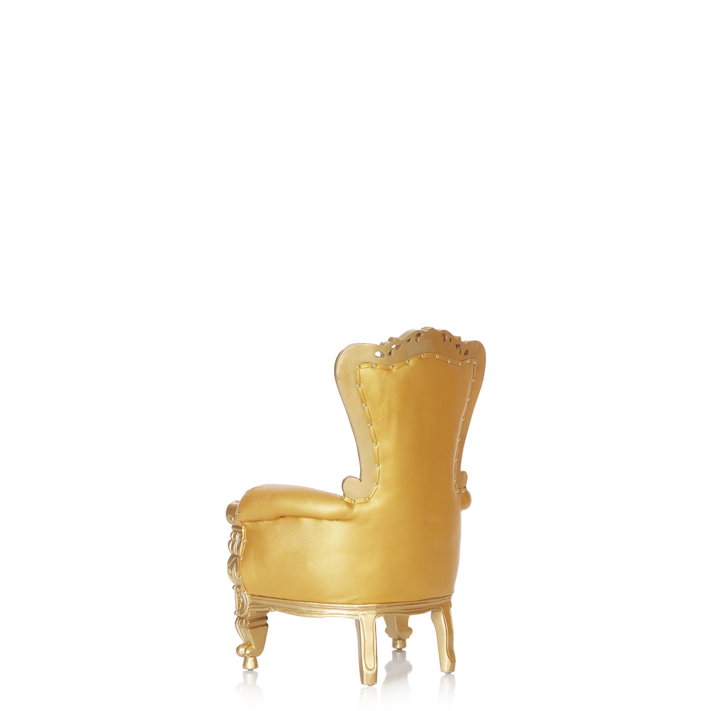 """Mini Tiffany"" Kids Throne Chair - Gold / Gold"