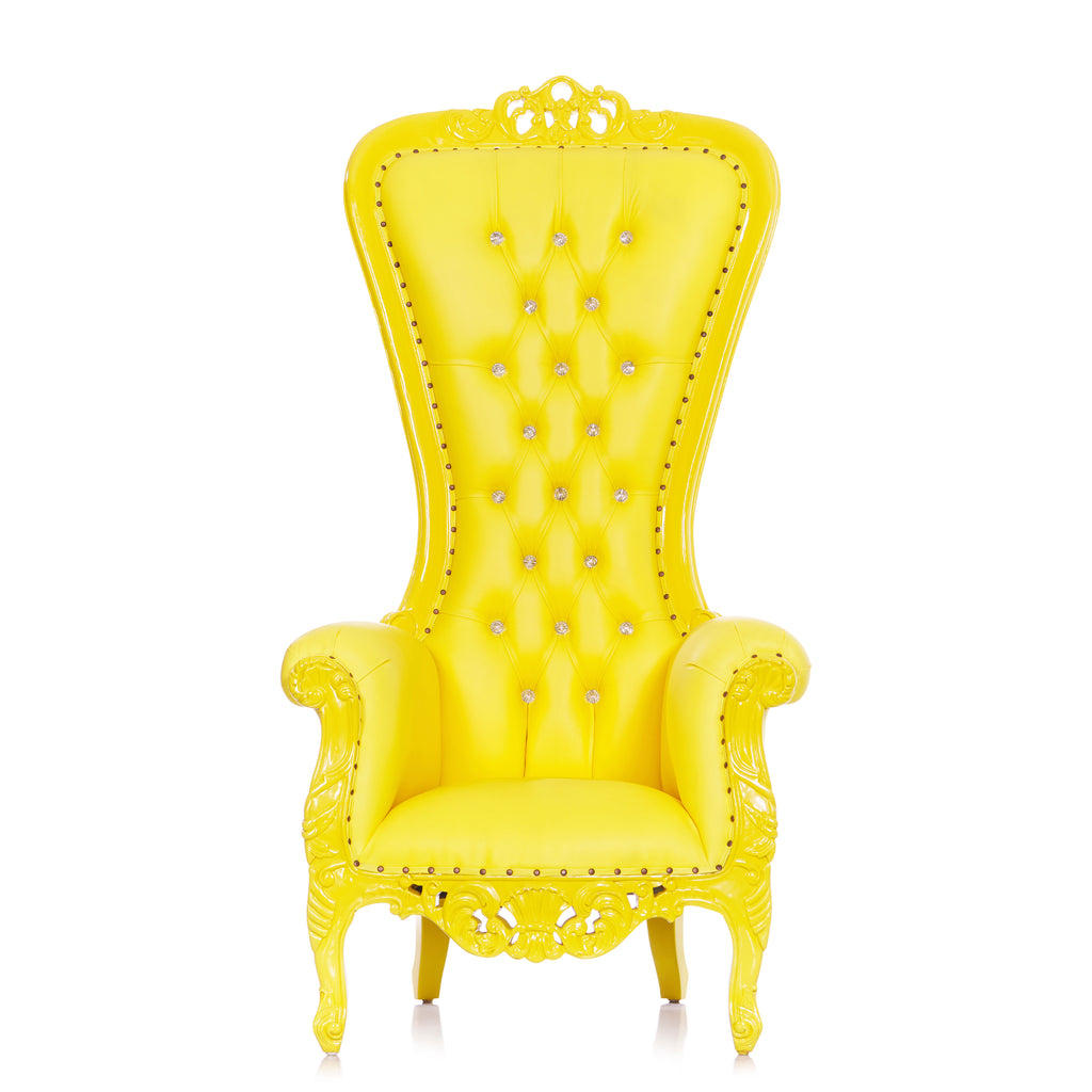 """Diana"" Queen Throne Chair - Yellow / Yellow"