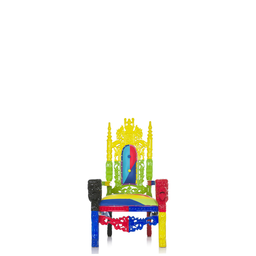 """Mini King David"" Lion Throne Chair - Rainbow"
