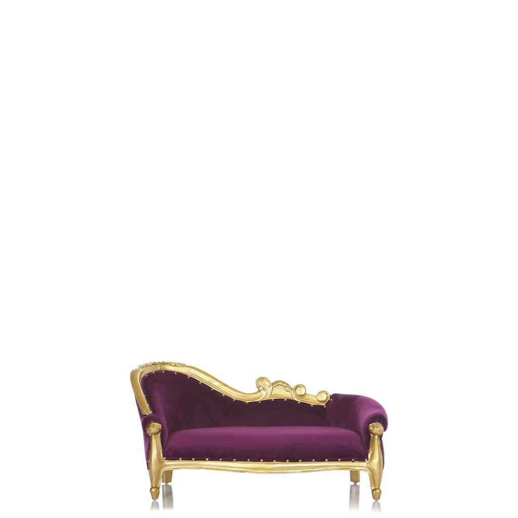 """Luxor"" Mini Chaise Lounge For Kids Only - Purple / Gold"