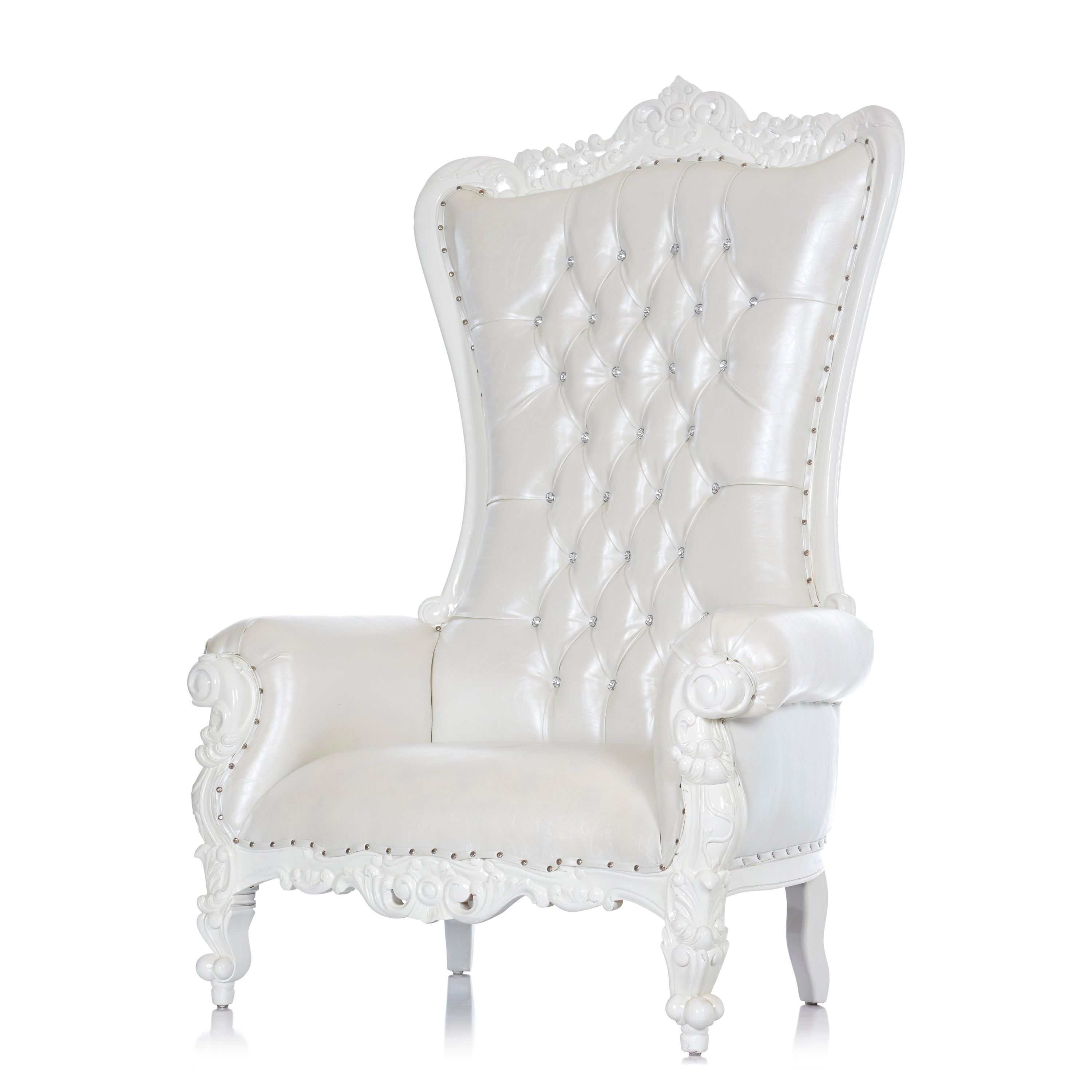 Picture of: Queen Tiffany Extra Wide Throne Chair White White Throne Kingdom
