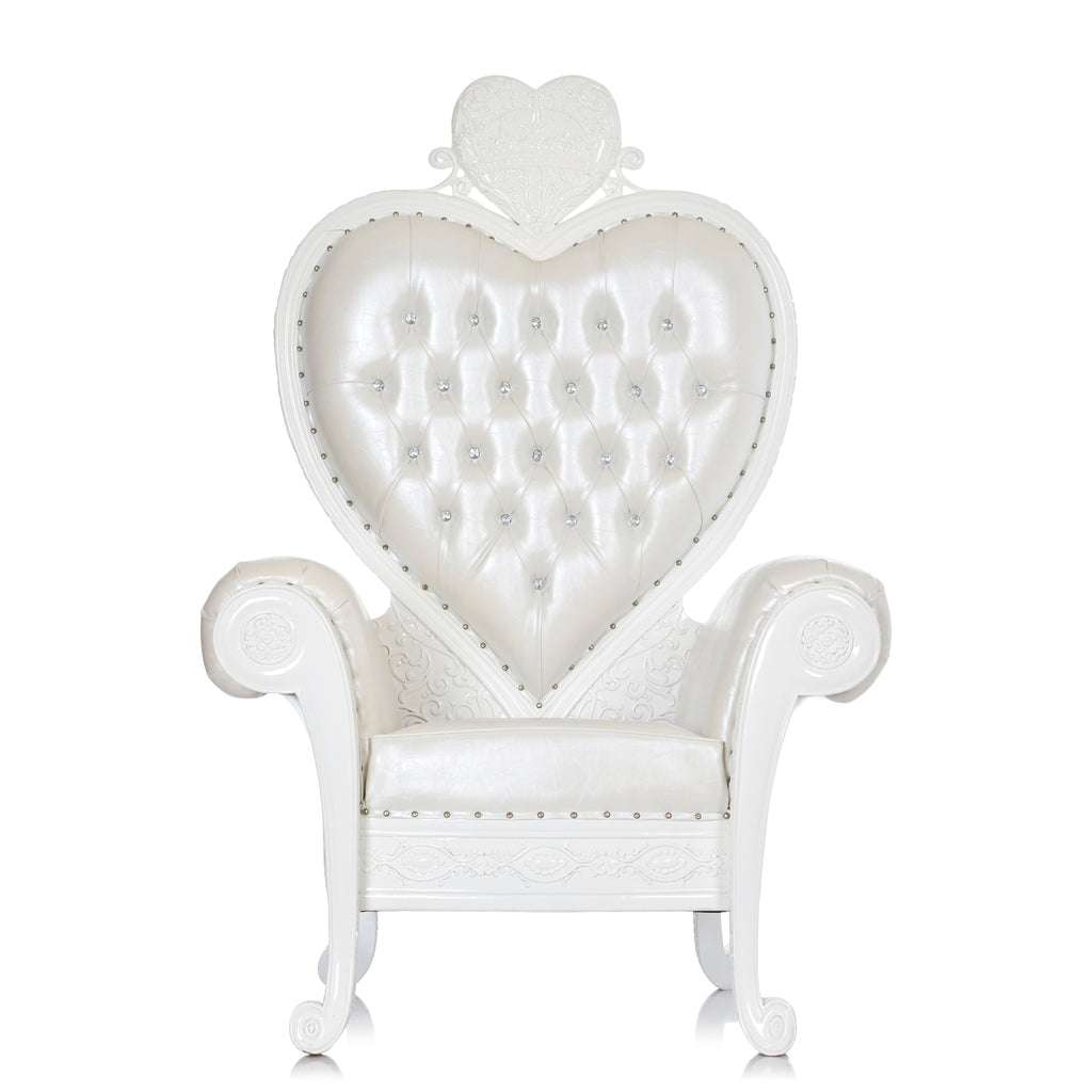 """Royal Valentine"" Party Throne Chair - White / White"