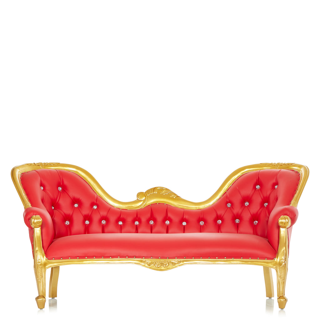 """Monaco"" Royal Chaise Lounge -Red / Gold"