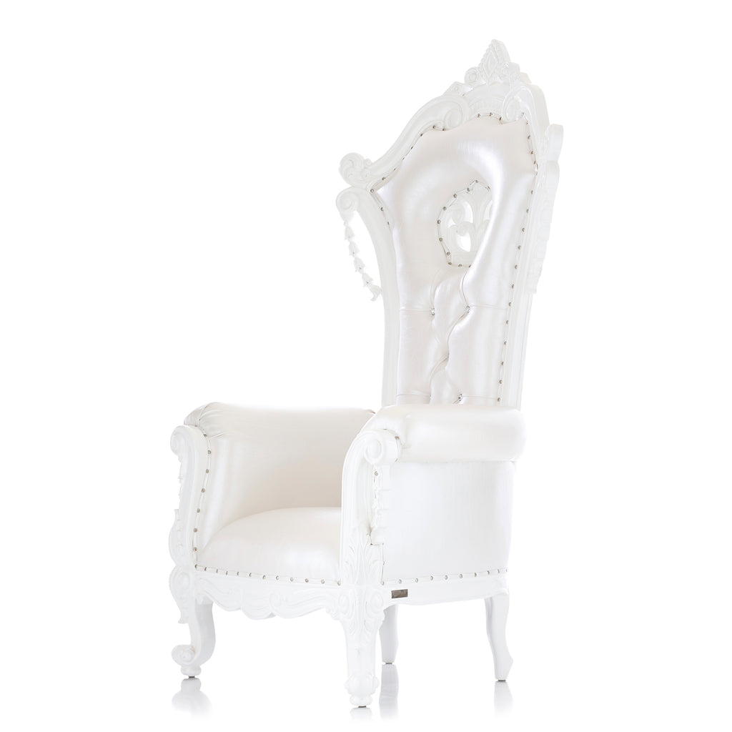 King Babette Throne Chair - White / White