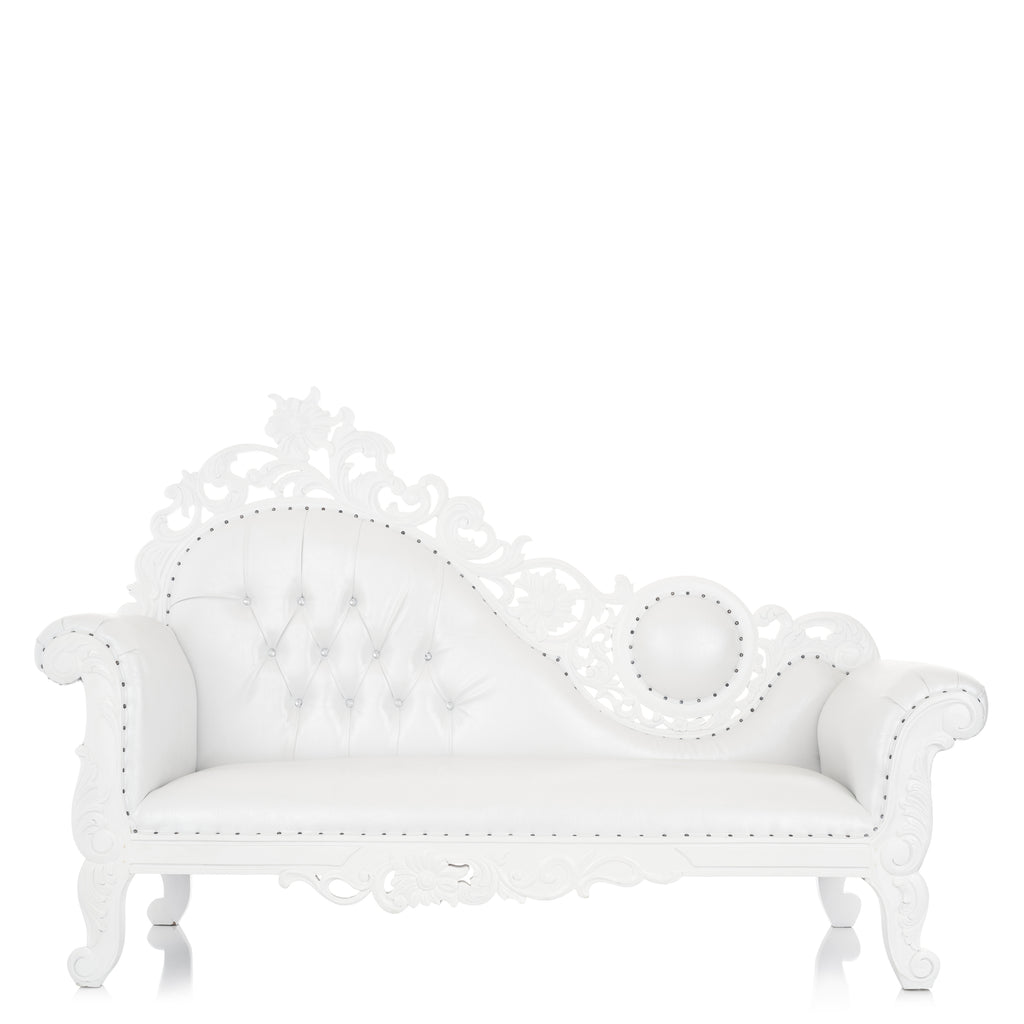 """Vanessa"" Royal Chaise Lounge - White / White"