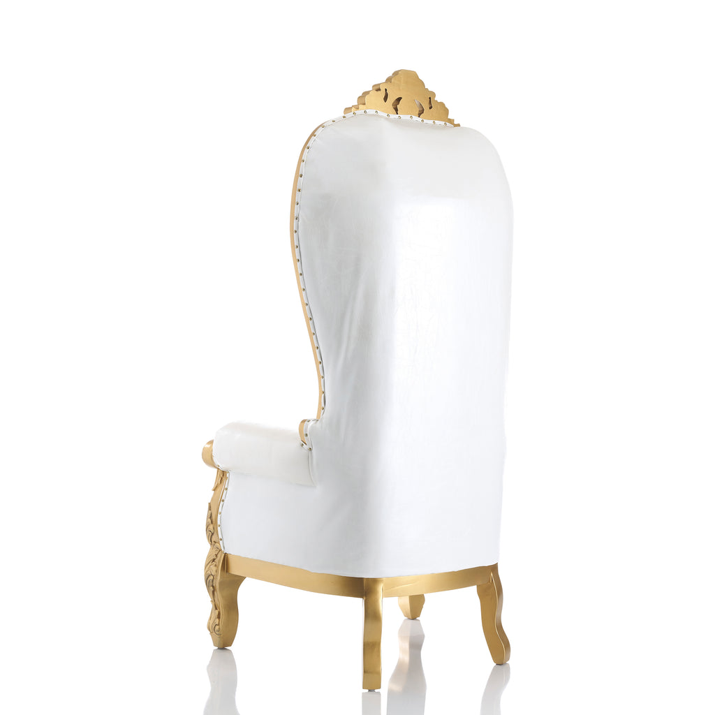 """Julius Caesar"" Throne Chair - White / Gold"